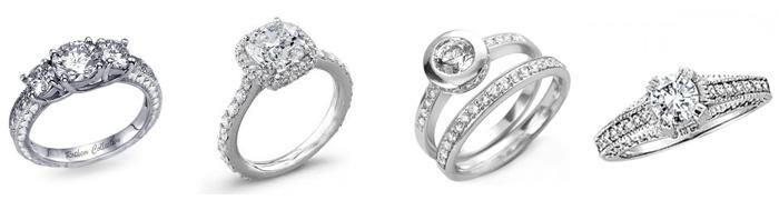 poročni prstani z diamanti okoli obročka