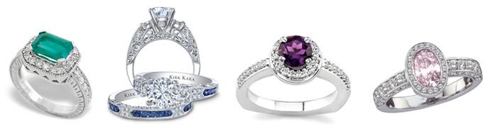 poročni prstani z barvitimi kamni