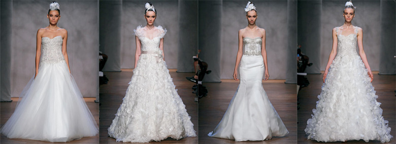 Poročne obleke Monique Lhuillier
